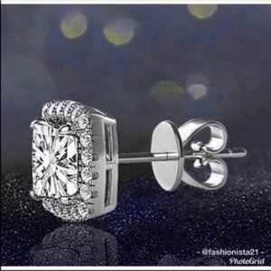 Halo Stud Earrings Swarovski Crystals